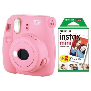 Fujifilm instax mini 9 Açik Pembe Fotograf Makinesi & 20'li Film Renkli